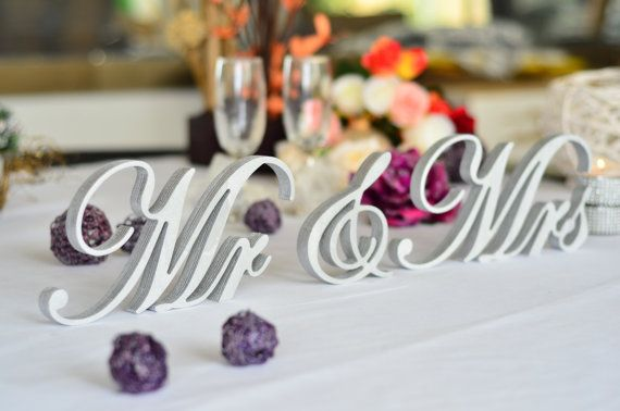 Mr And Mrs Signs Wedding Signs Top Table Centerpice