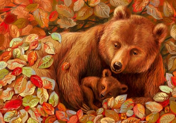 Анимационные открытки с медведем, год