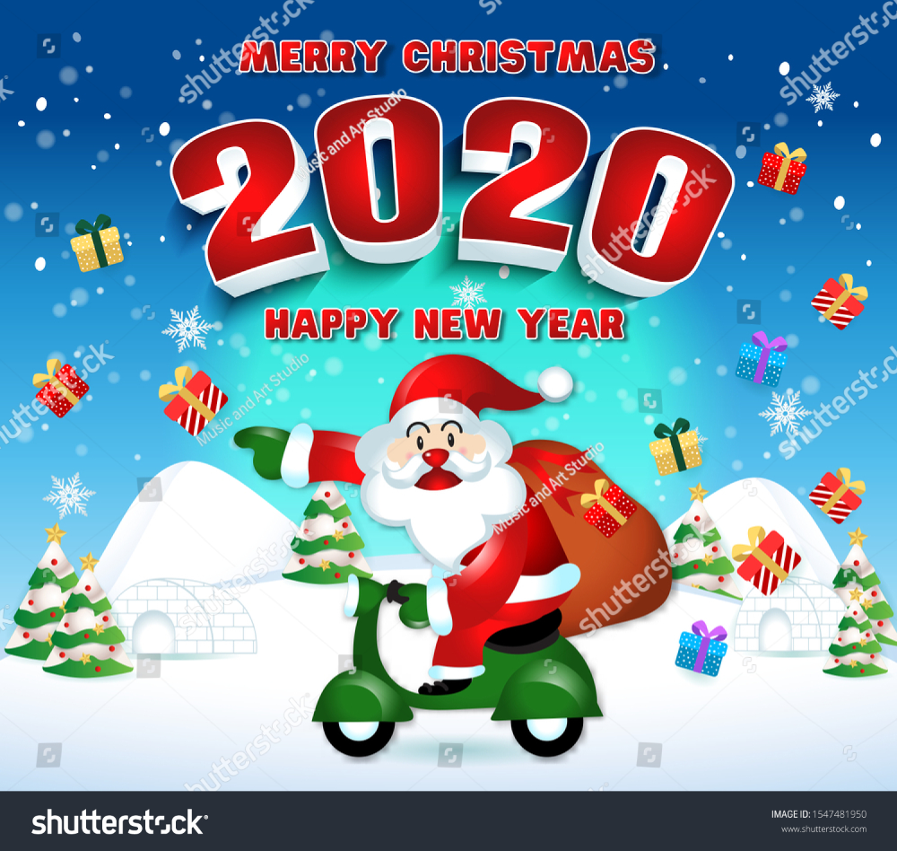 Merry Christmas Happy New Year 2020 Backgrounds/Textures