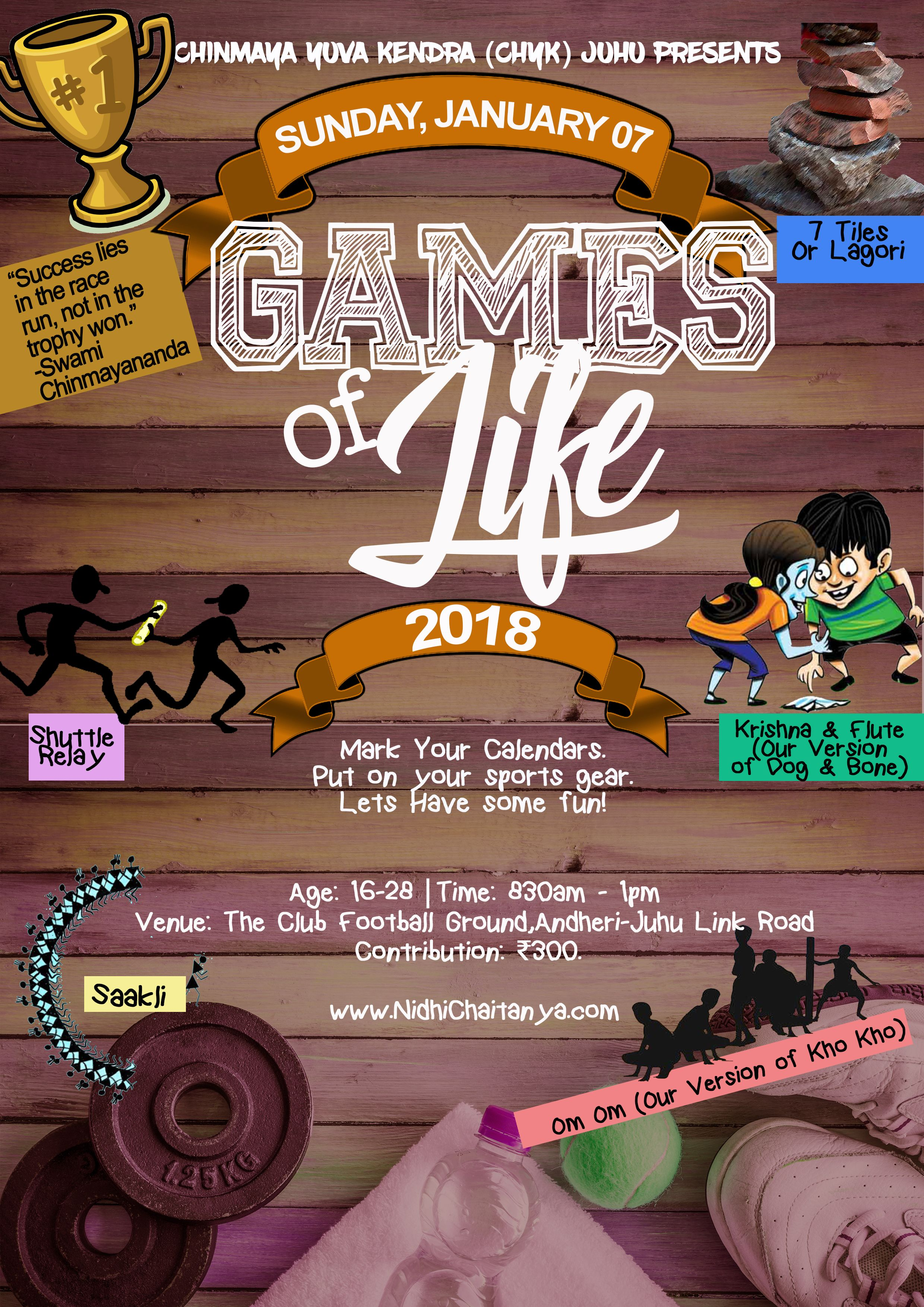 Games of Life 2018 Flyer Design