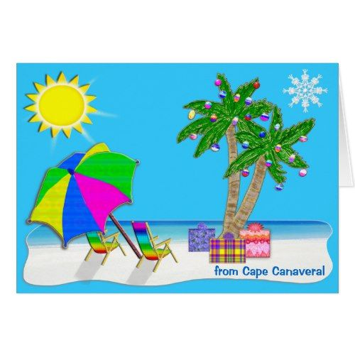 personalized beach themed christmas cards - Beach Themed Christmas Cards
