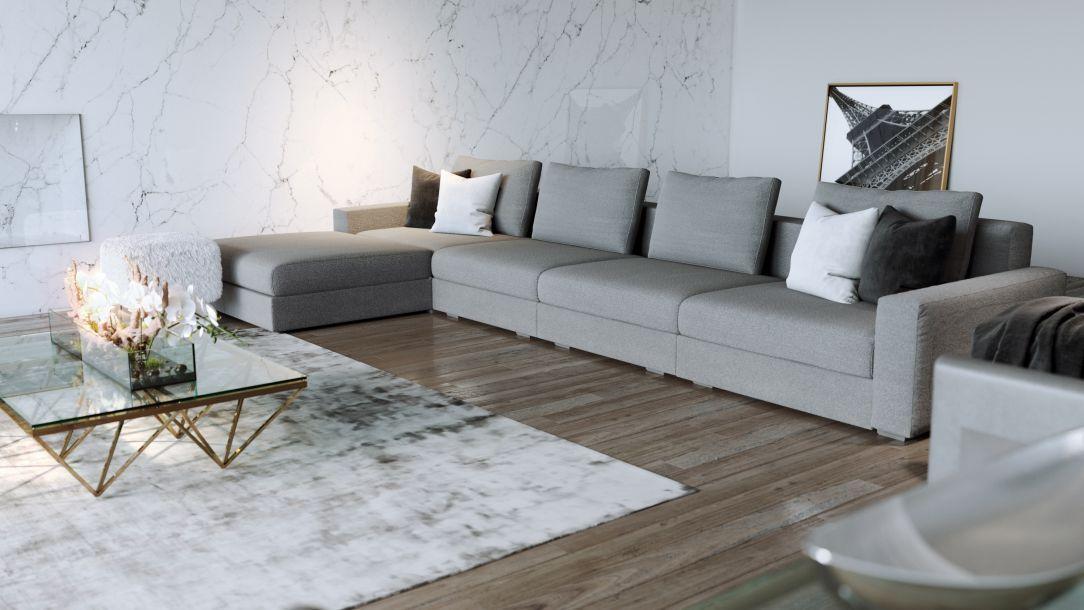 Edison Large Sectional Sofa Gray Large Sectional Sofa Grey Sectional Sofa Sectional Sofa
