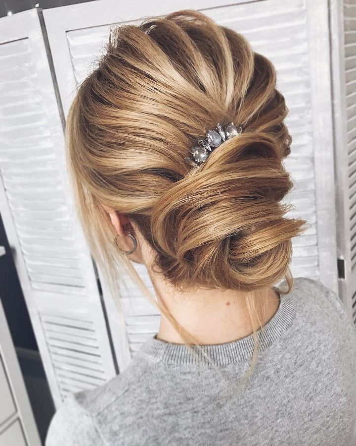 Elegant Simplicity Updo Wedding Hairstyle To Inspire Your