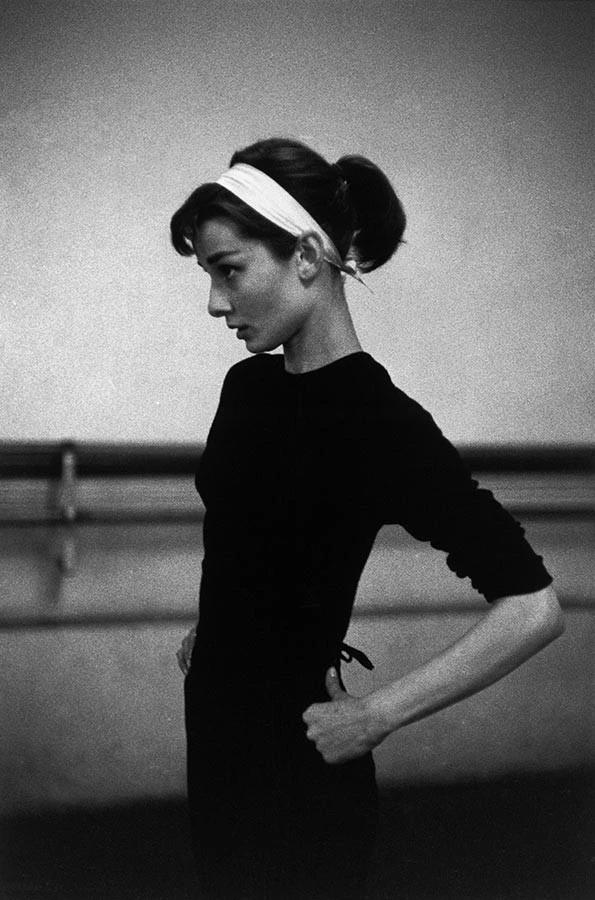 Actress Audrey Hepburn in Paris, 1956.