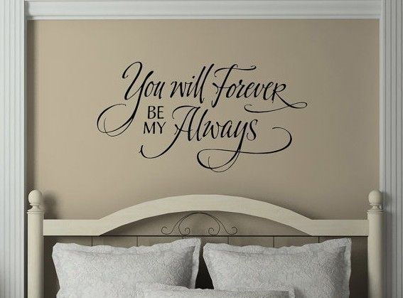 ALWAYS AND FOREVER Fancy Couple Husband Wife Vinyl Wall Decal Lettering  Words