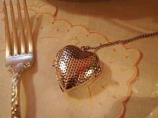 silver heart tea ball