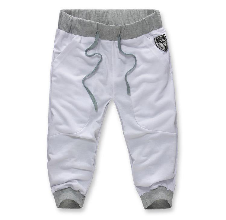 2015 verano nueva moda hombres de pantalones cortos de gimnasio correr  disparos deporte algodón carta casual Shorts hombres 7 color en Shorts de  Moda y ... 0c77d4410e6