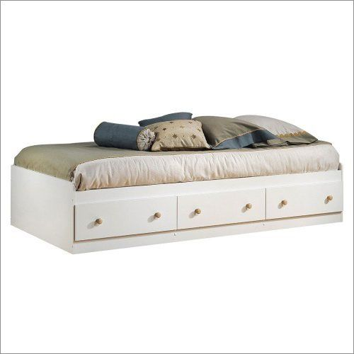 Summertime Twin Mates Bed in White and Maple By South Shore Furniture 3263080