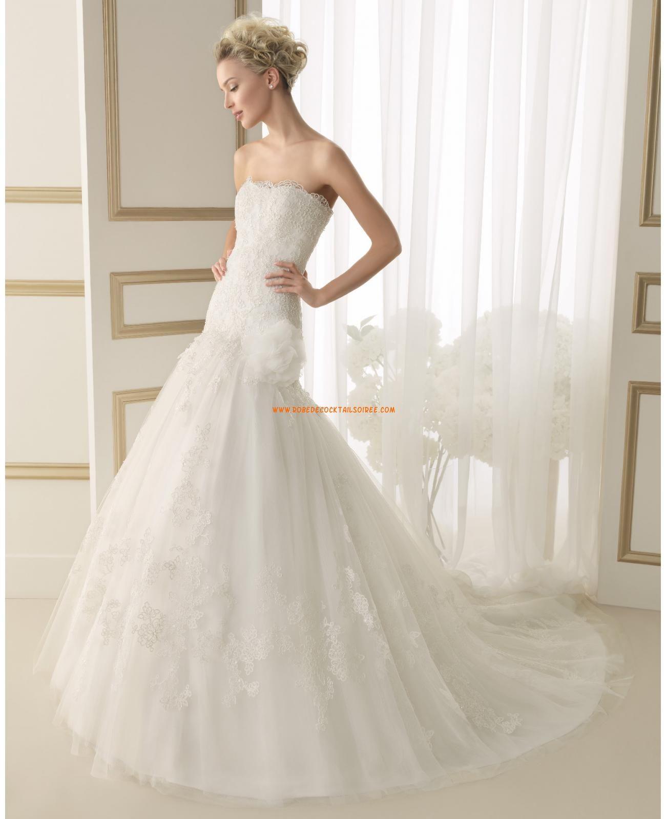 Fleur wedding dress  Robe de marie glamour tulle dentelle fleur  organza wedding dresses