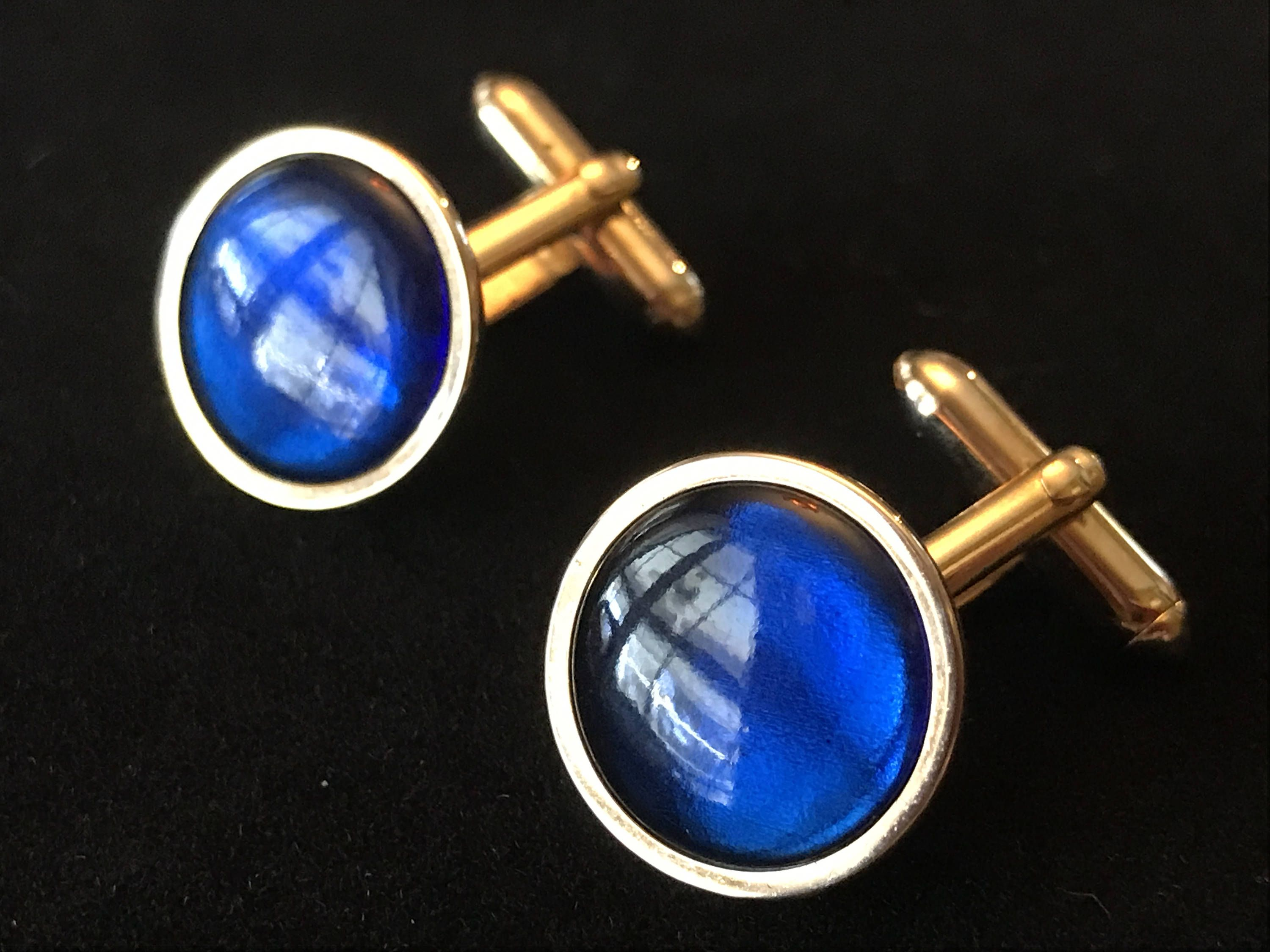 5621812469cf Vintage Swank Cobalt Blue and Silver Tone Cufflinks/Swank Cufflinks/Mid  Century Blue and Silver Cufflinks by BazemoreVault on Etsy