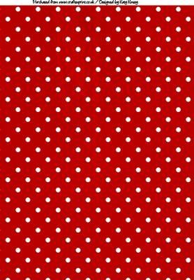 Polka Dots A Backing Paper In Red And White On Craftsuprint