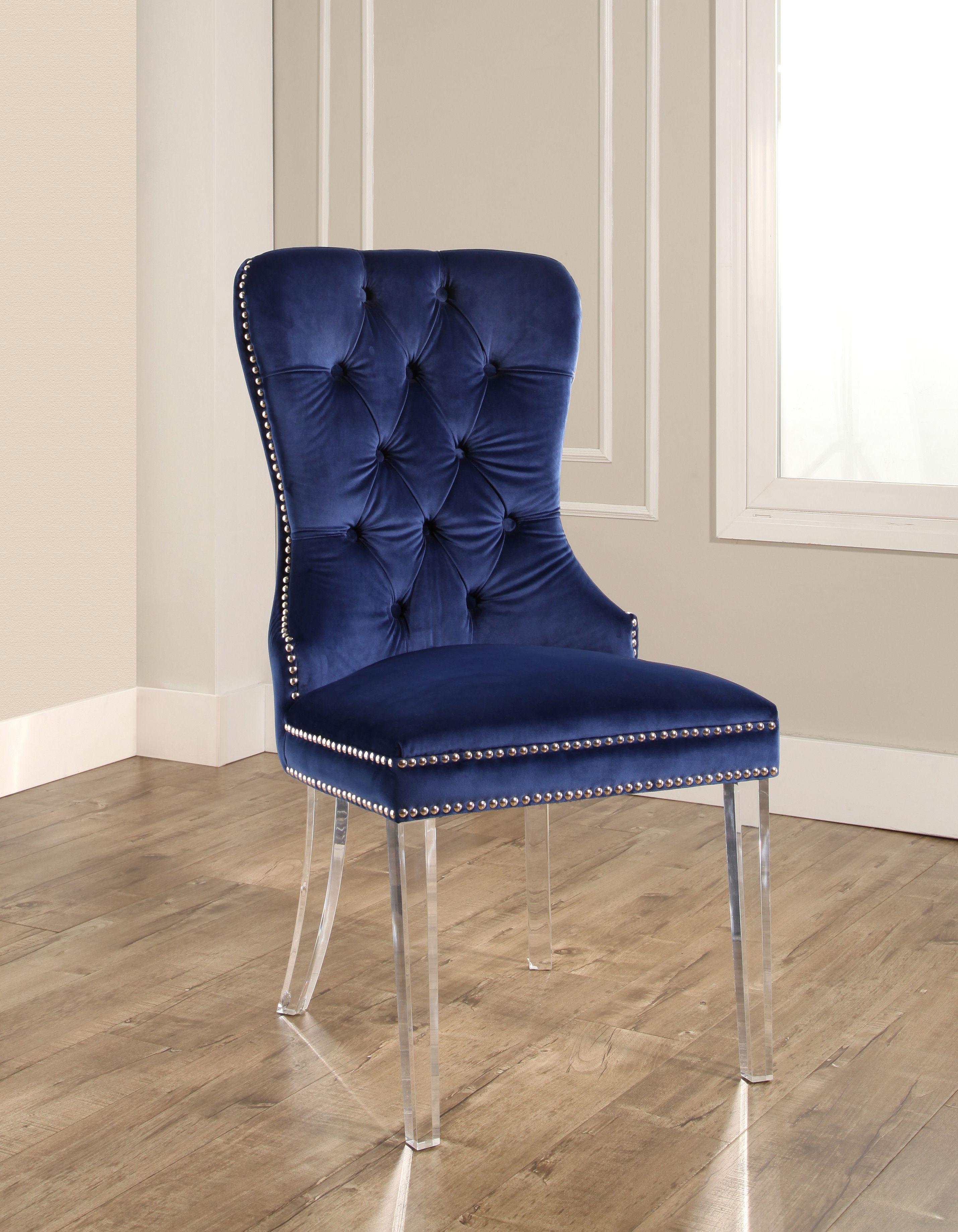 Devon & Claire Jayce Velvet Dining Chair With Acrylic Legs ...