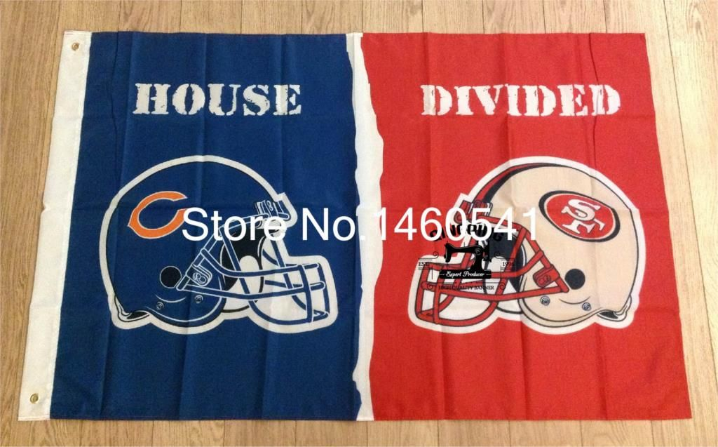 Chicago Bears San Francisco 49ers Helmets House Divided