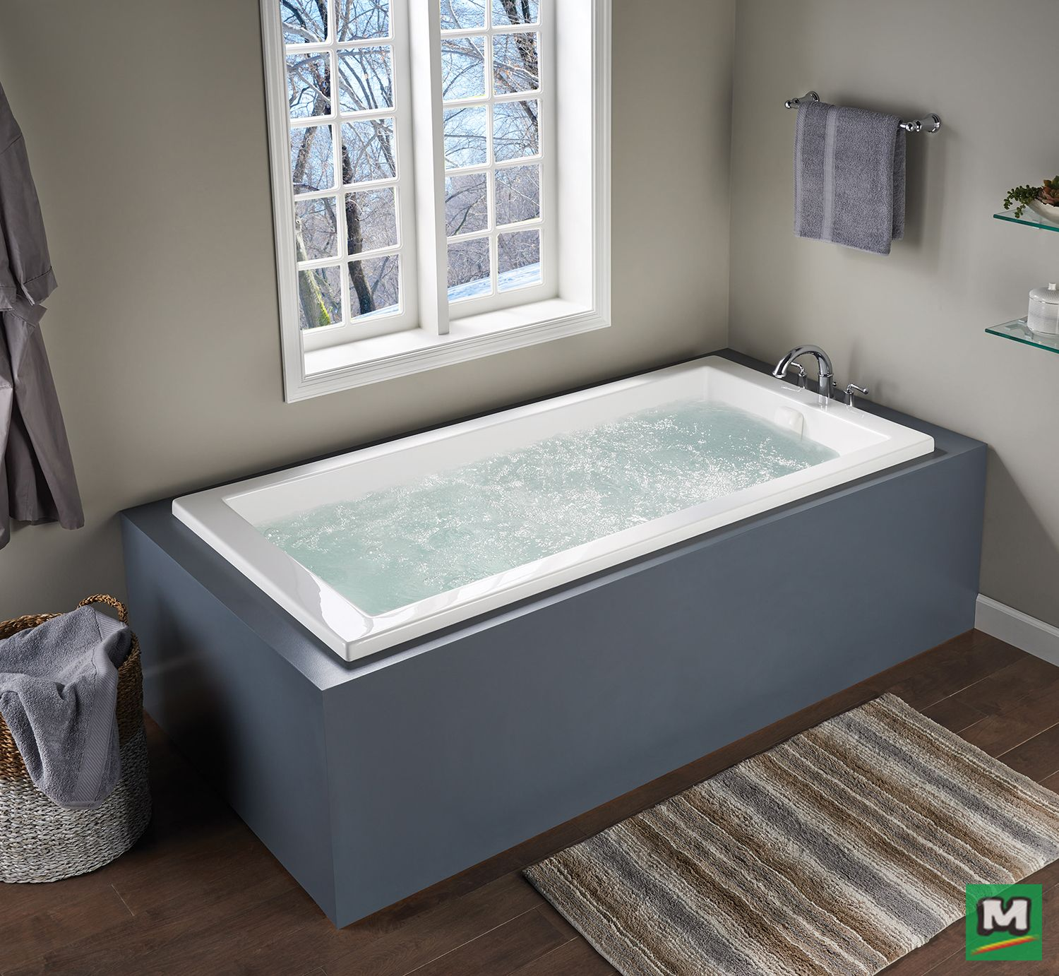 Step into comfort with this Eljer LaSalle XL Acrylic Whirlpool. It\'s ...