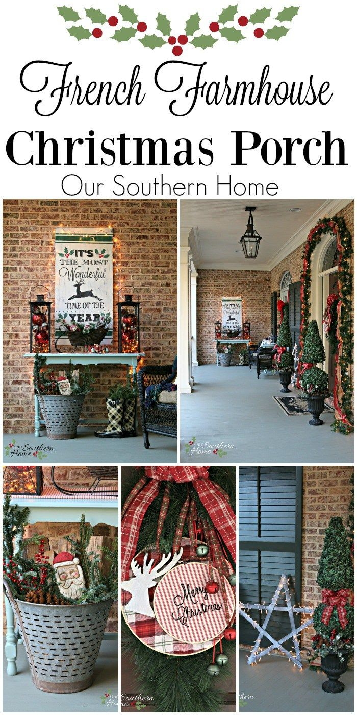 Christmas Front Porch Outdoor DecorationsOutdoor ReindeerFarmhouse