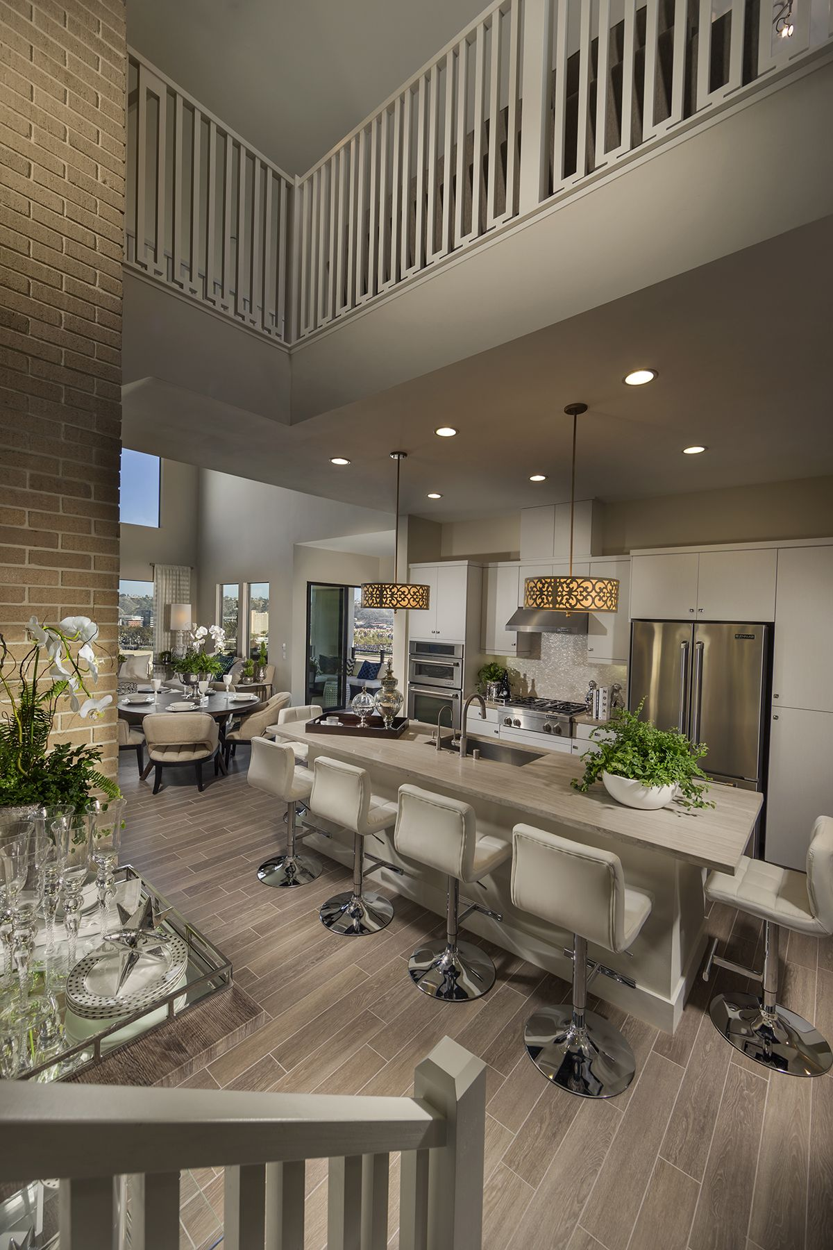 Plan 2 penthouse loft style living lucent shea homes san diego mission valley civita room for Shea homes design center san diego