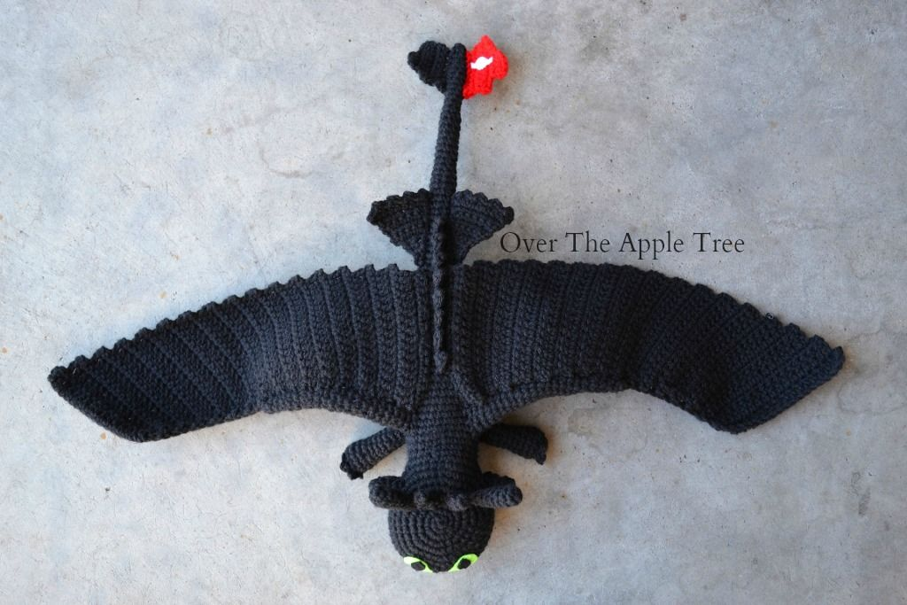Crochet Toothless from How To Train Your Dragon, Over The ...