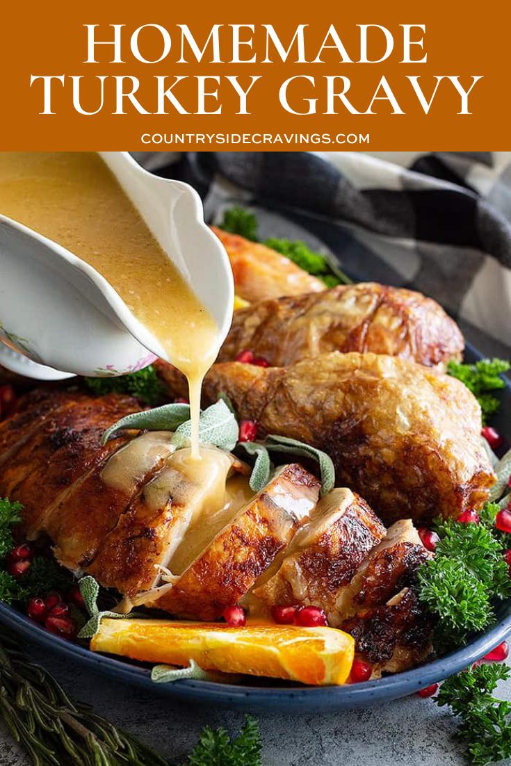 Homemade Turkey Gravy  #turkeygravyfromdrippingseasy