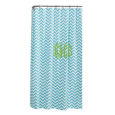 Campanella Stripe Cotton Single Shower Curtain Bathroom Shower
