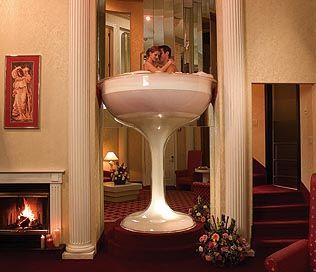 Poconos Resort Champagne Hot Tub Suites Unusual Hotels Romantic Vacations Glass