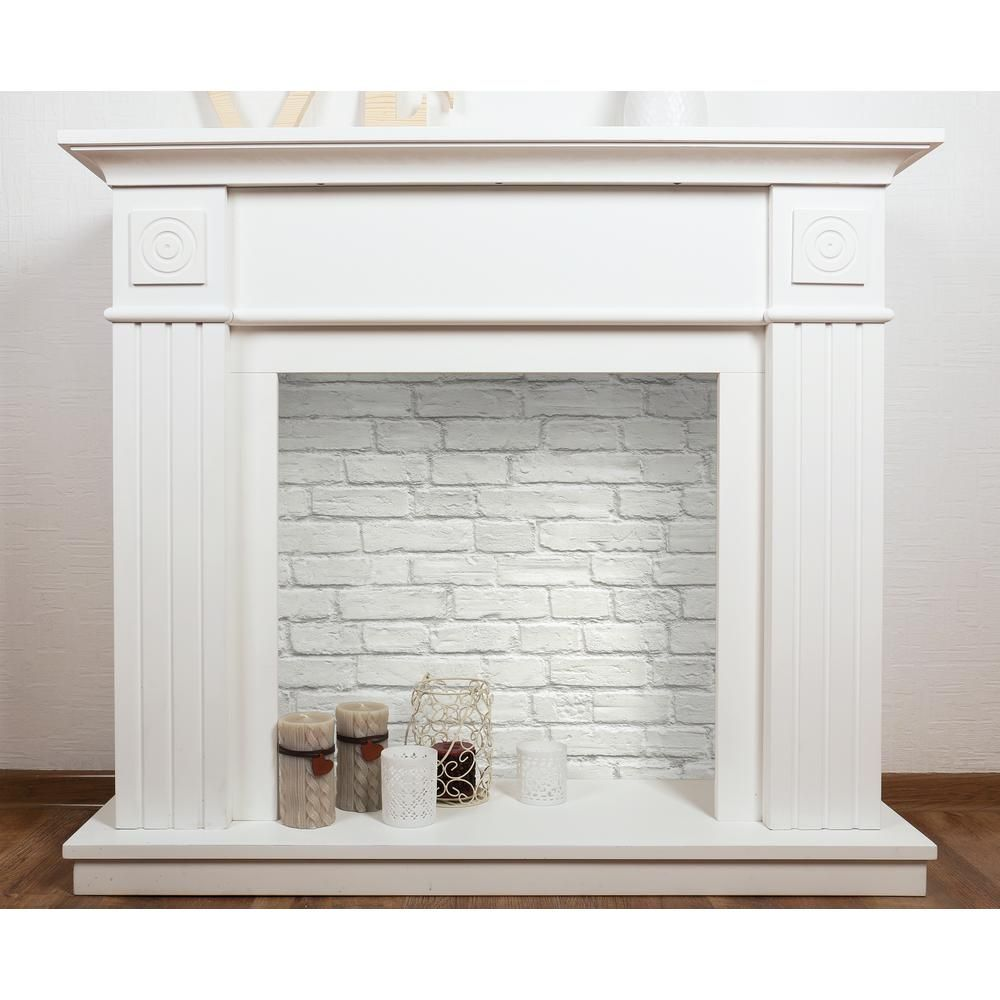 Nextwall Vintage White Brick Vinyl Peelable Wallpaper Covers 30 75 Sq Ft Ax10800 The Home Depot In 2021 White Brick Wallpaper Brick Wallpaper Fireplace Wallpaper Fireplace