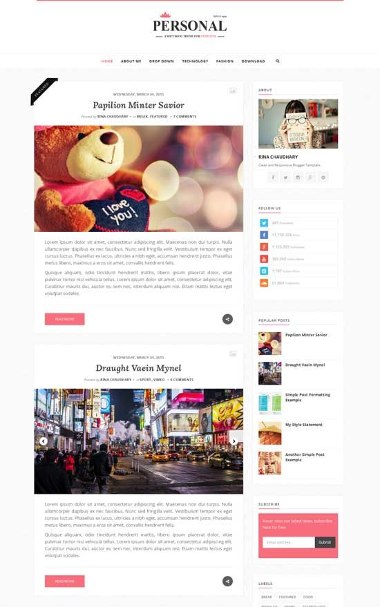 Personal responsive blogger template free responsive blogger personal responsive blogger template blogger templates 100 free maxwellsz