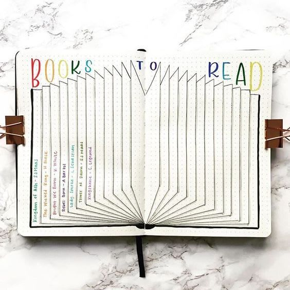 8 Creative Ways to Track Books in Your Bullet Journal