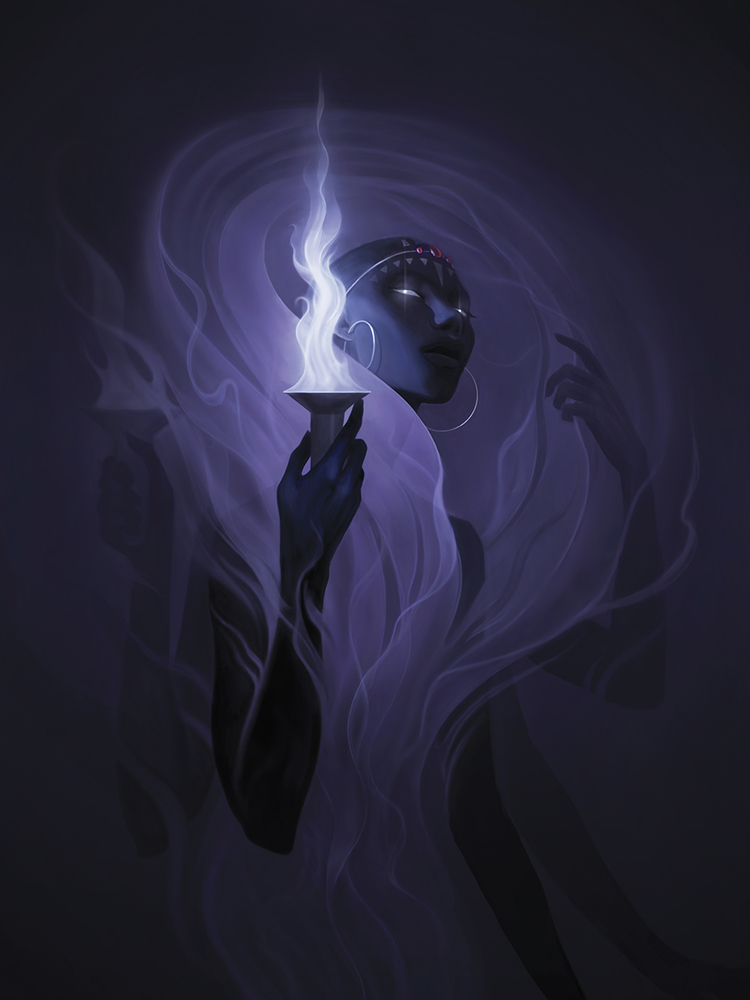 """Check out this illustration by Miranda Meeks! http://goo.gl/TjgqB2""""My take on one of the Poe sisters in Ocarina of Time"""" created for Light Grey Art Lab's exhibit, Boss Rush."""