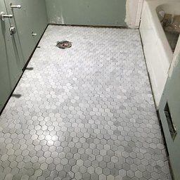 Customer Reviews Carrara White Italian Carrera Marble Hexagon Mosaic Tile 2