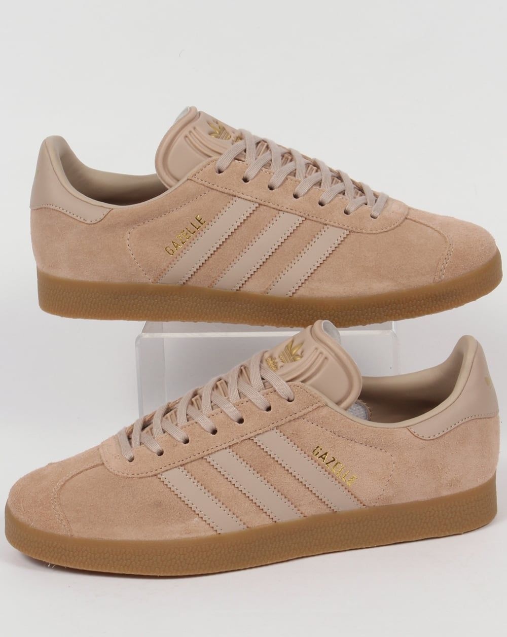brown adidas trainers