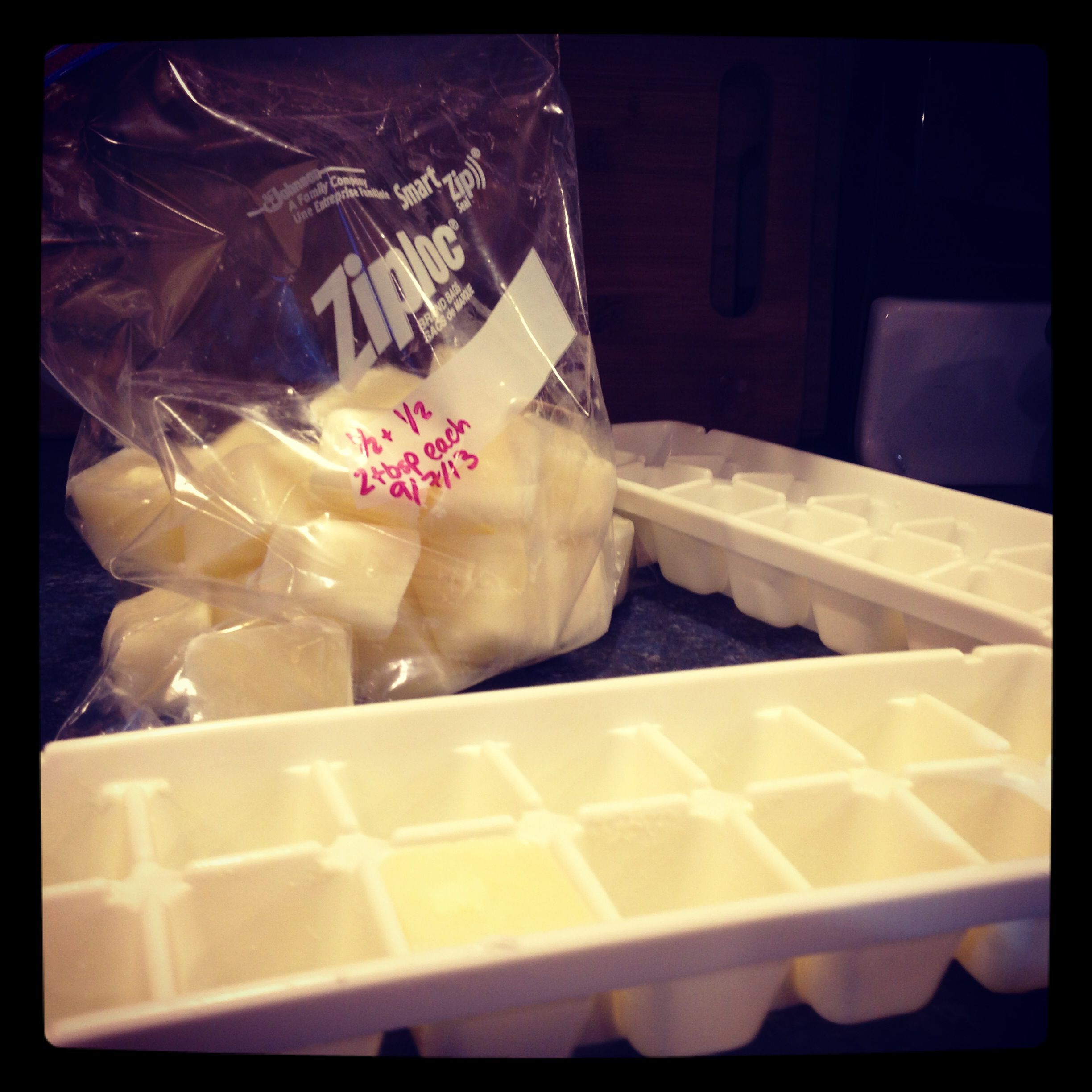 Freeze Half And Half In Ice Cube Trays For 2 Tbsp Servings For Morning Coffee Food Hacks Food Storage Cooking Techniques