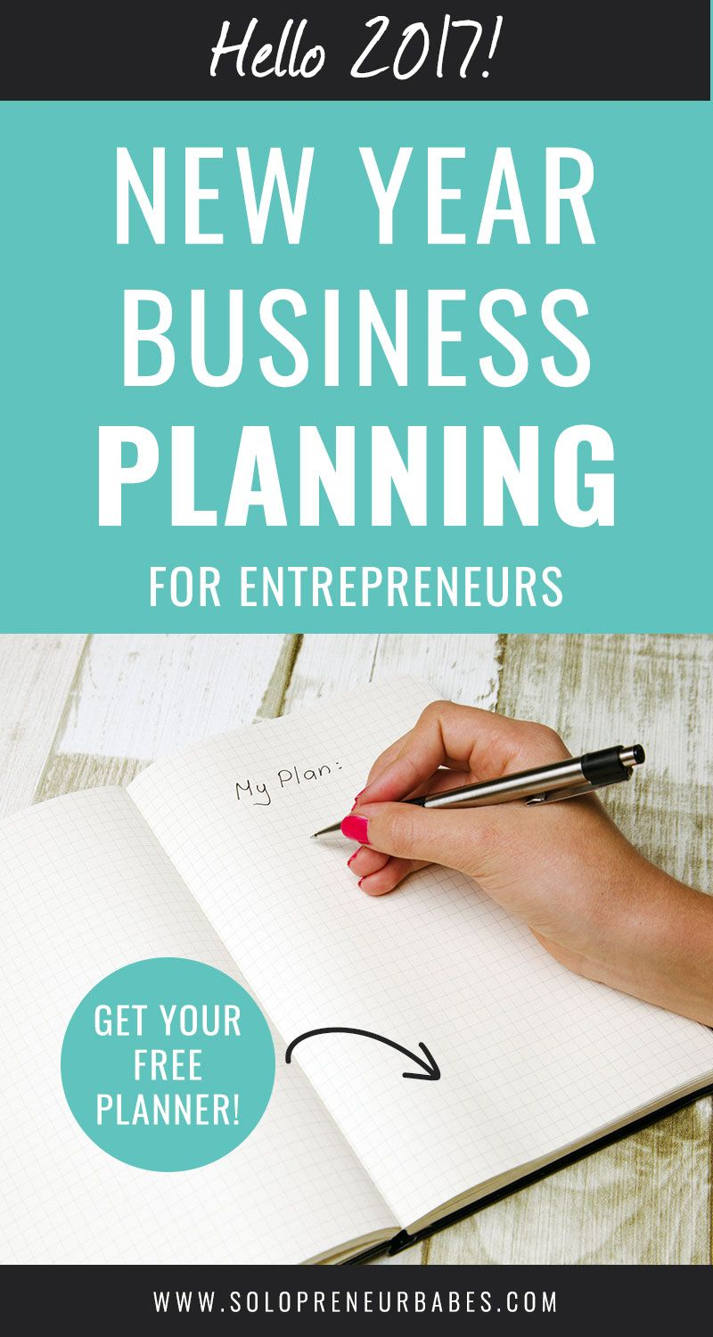 Get clarity on what you want in 2017! New Year Business Planning For Entrepreneurs - including free downloadable planner! - Click to read more on Solopreneur Babes blog