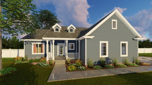 1 Story Traditional House Plan Hansley Modern Farmhouse Exterior Farmhouse Exterior New House Plans