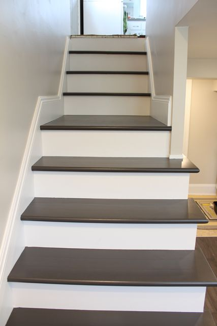 Painting Wood Basement Steps Painted Stairs Basement Steps