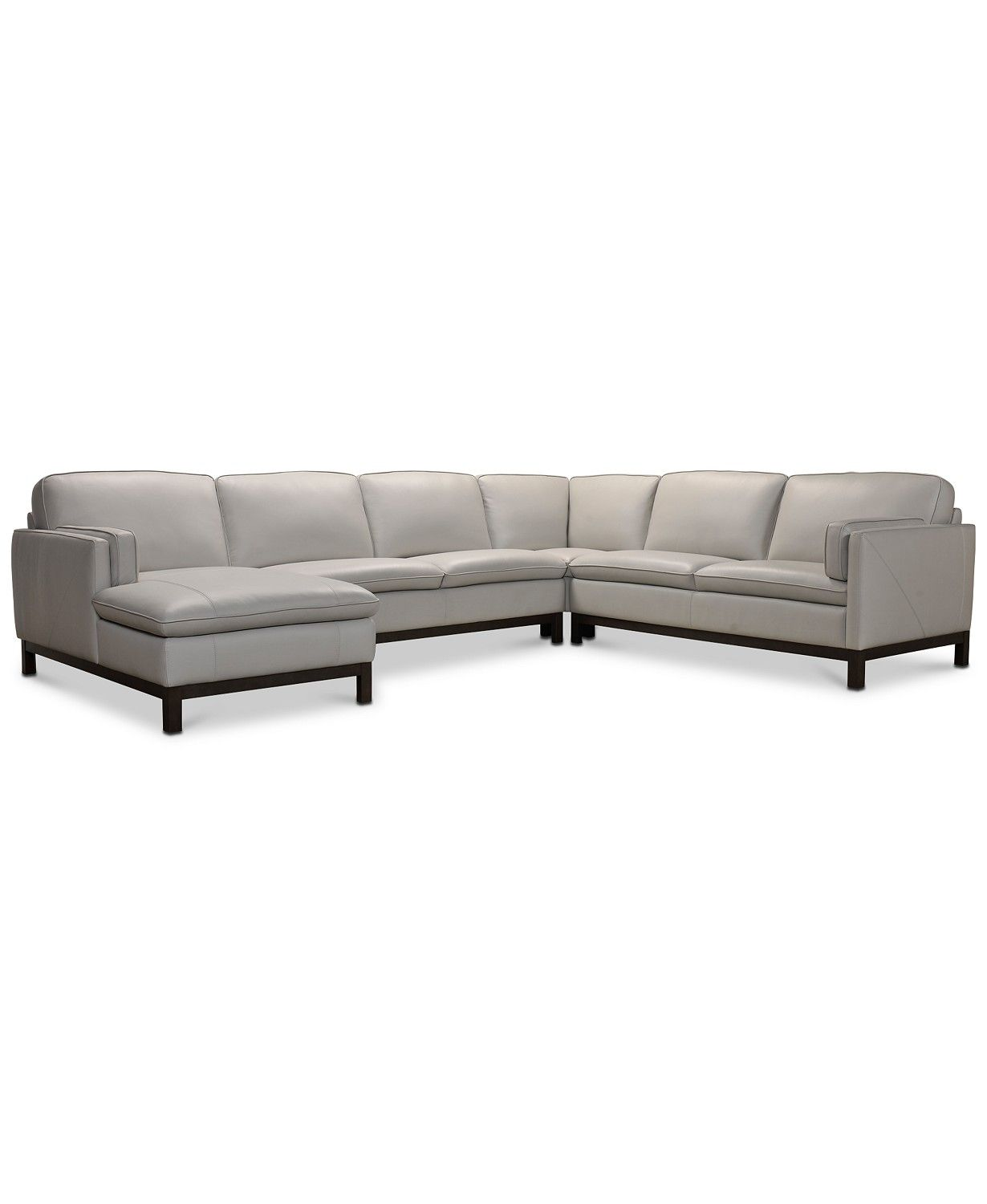 Furniture Virton 136 Leather Chaise Sectional Leather Sectional Sofas Closeout Furniture