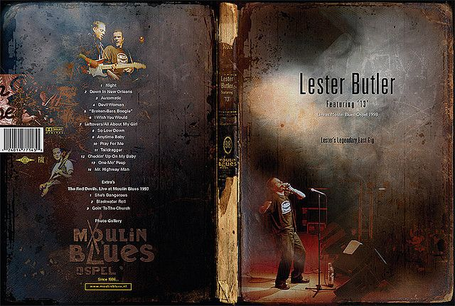 LESTER BUTLER FEATURING '13' - LIVE AT MOULIN BLUES 1998 (DVD)