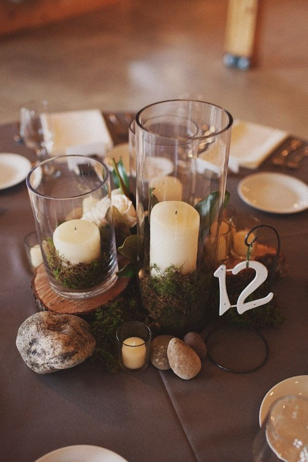 natural table numbering centerpiece