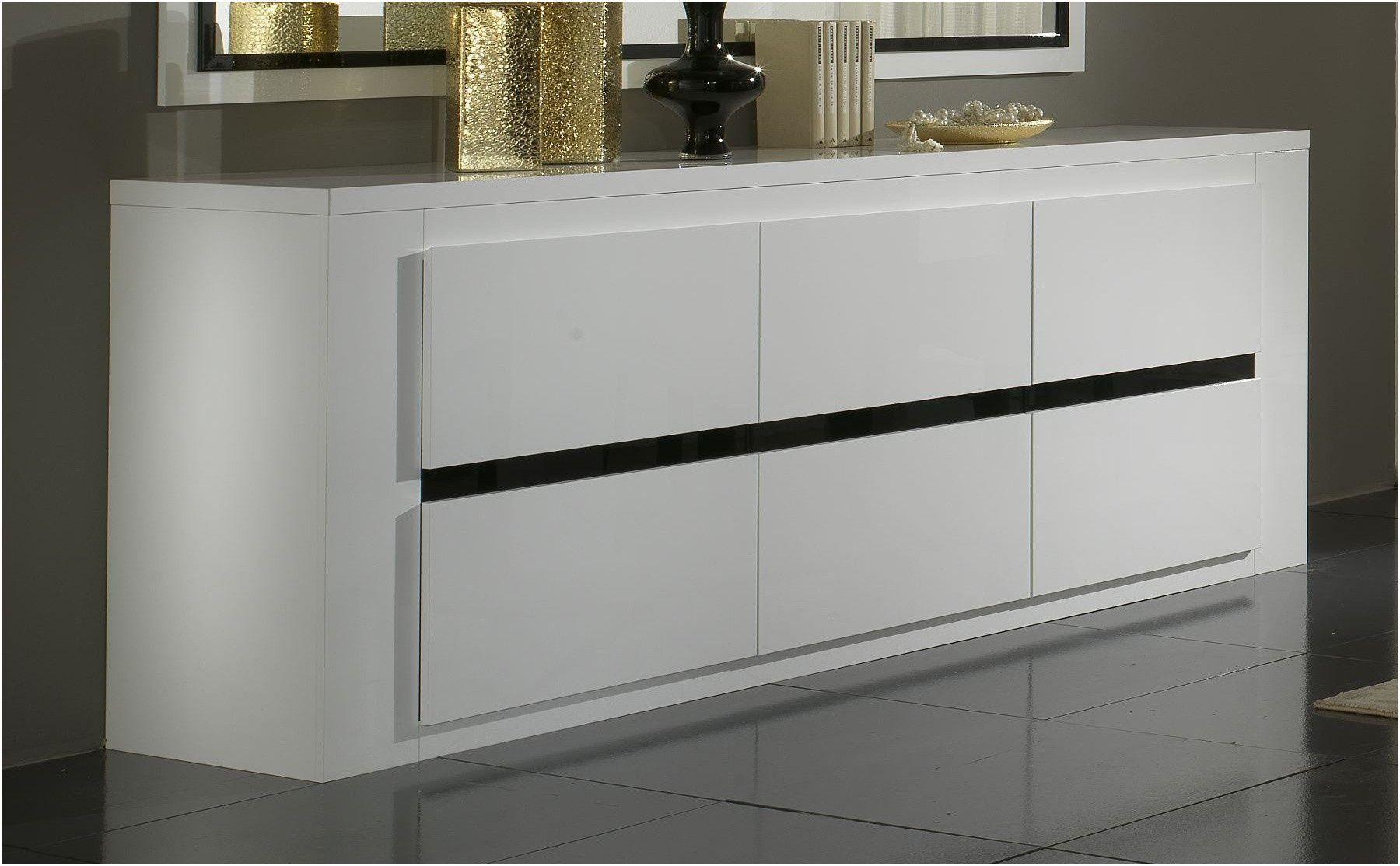 New Meuble Bas Salon Blanc Laqué