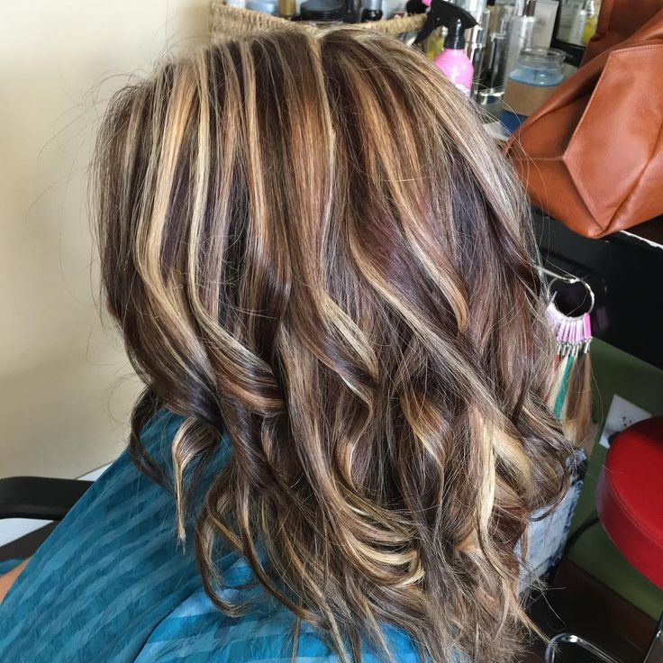Ash Blonde And Chocolate Streaks Hair Highlights And Lowlights