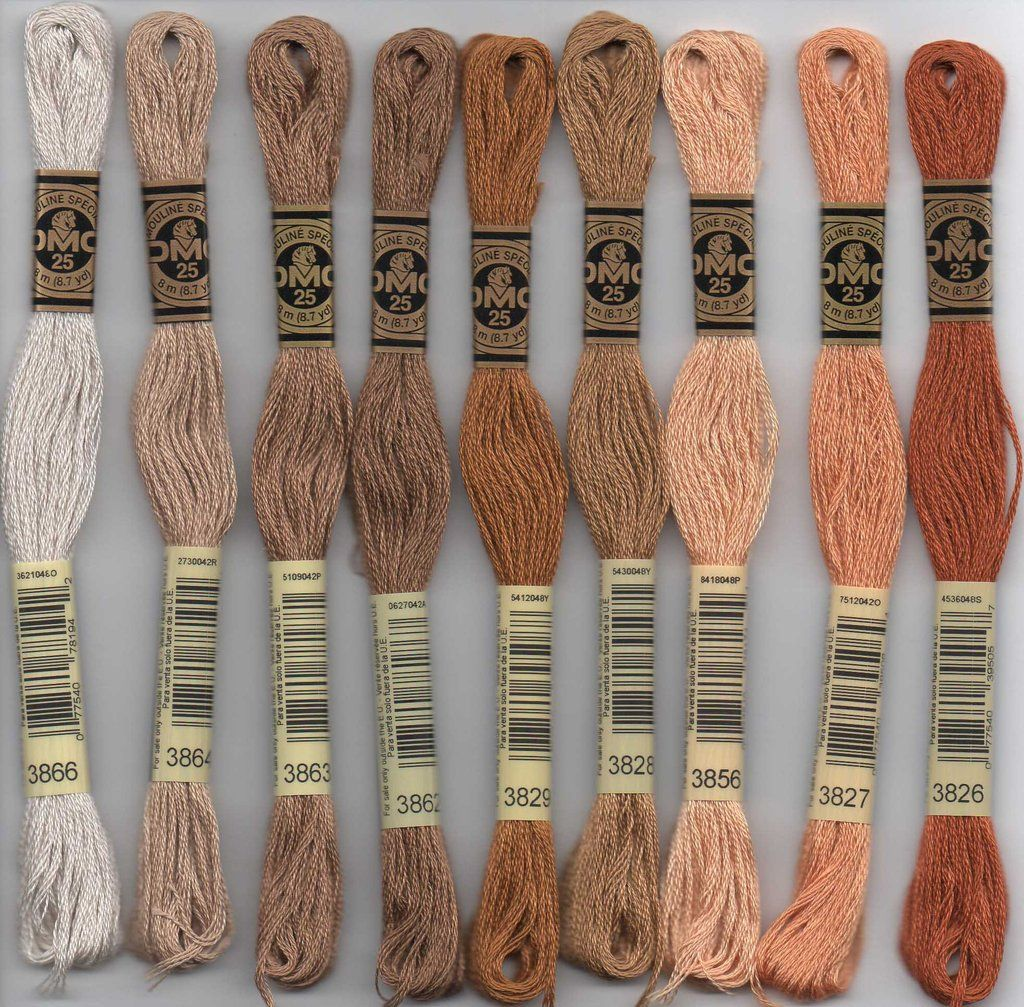 DMC embroidery floss - 3800 series #embroideryfloss