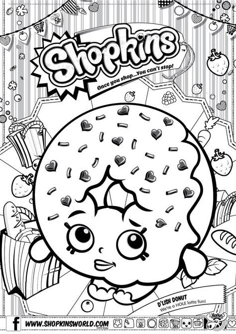 Coloring In Pages Shopkins. Shopkins Coloring Pages Season 1 D Lish Donut