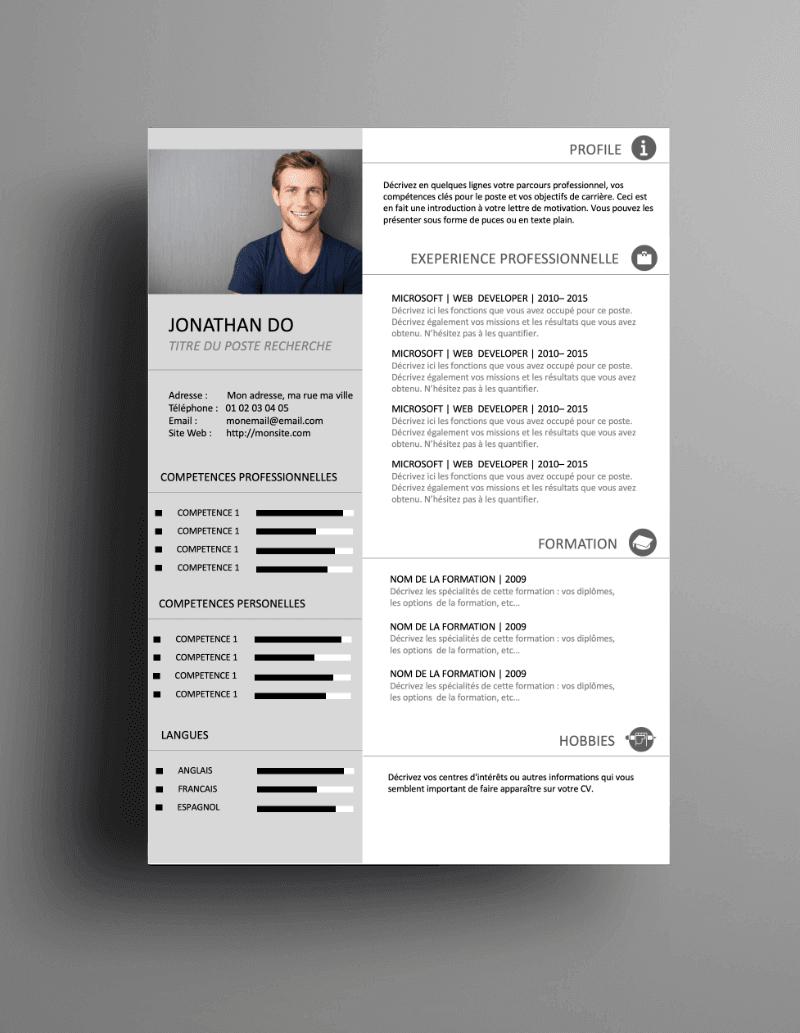 Comment télécharger les CV ?   Cv gratuit, Modèle cv ...