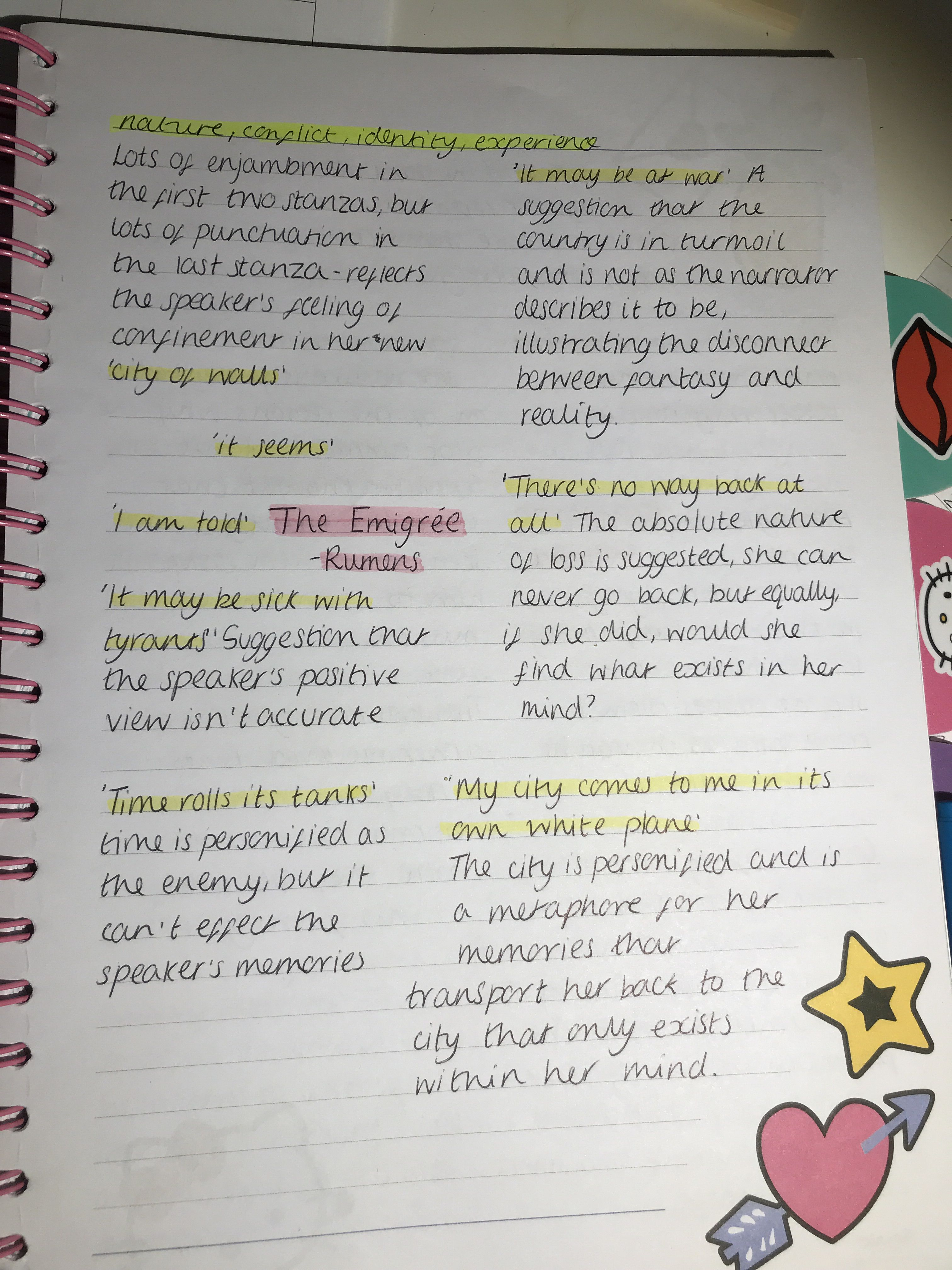 Gcse English Lit The Emigree Poem With Images