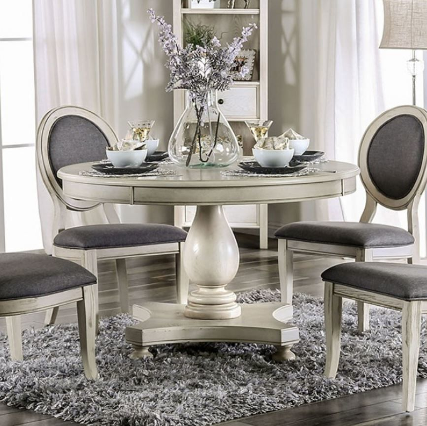 Dining Room Set Table Chairs Kitchen Round Best Furniture Compact Grey 5 Piece Simpleliving Midcen Round Dining Room Dining Room Small Kitchen Table Settings