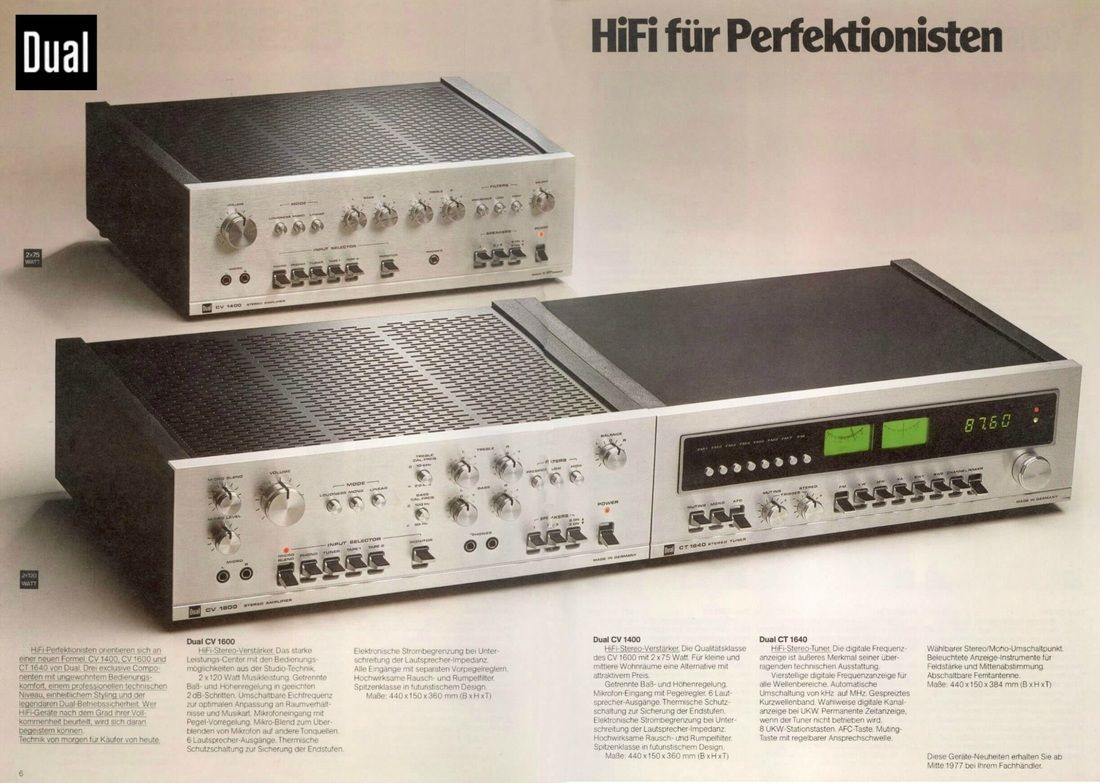 Dual Hifi Stereo Hifi Audio Vintage Radio