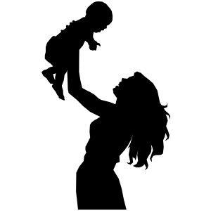 silhouette female detective clip art mother holding baby s fun rh pinterest co uk baby animal silhouette clip art baby chick silhouette clip art