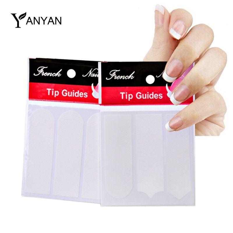 French Nail Tip Sticker 1pcs White Manicure Nail Art Tips Foams ...