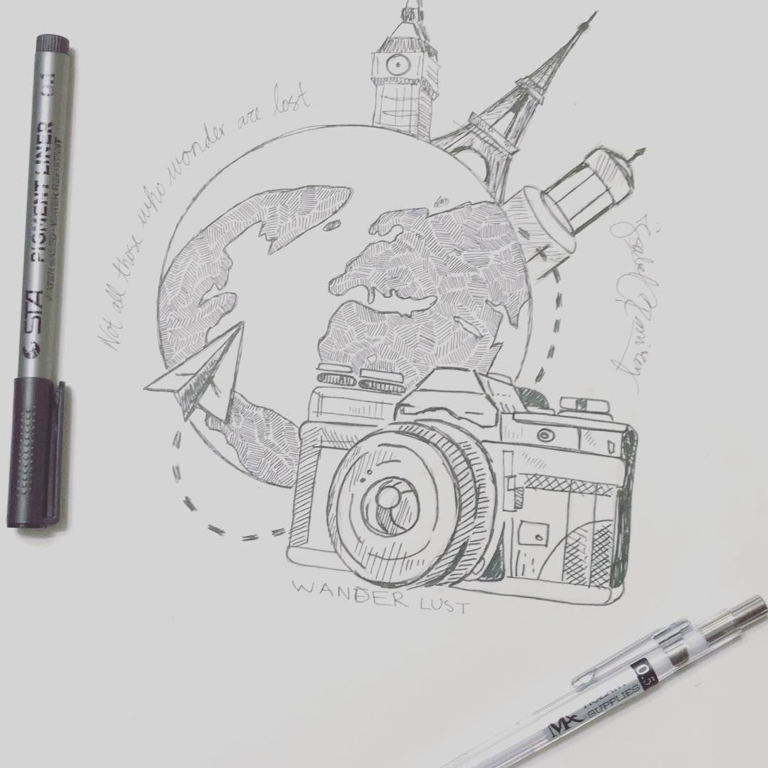 """ℐ𝓈𝒶𝒷ℯ𝓁 ℛ𝒶𝓂𝒾𝓇ℯ𝓏 en Instagram: """"Viajes #arte # ilustración #dibujo #draw #envywear #imagen #artista #sketch #sketchbook #paper #pen #pencil #artsy #instaart # beautiful …"""""""