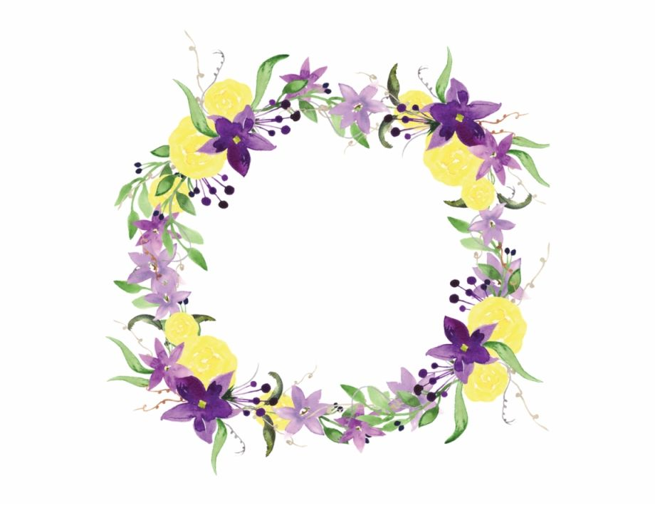 Purple Flower Wreath Flowers Png And Psd Yellow And Purple Flower Border Is Found On Pngtube Download It Flower Border Flower Border Clipart Purple Flowers