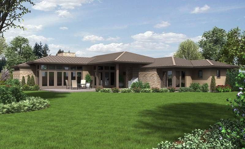 lovely contemporary ranch style house plans #4: 10 Ranch House Plans with a Modern Feel